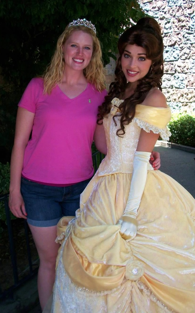 Belle's dress must weigh at least 10 lbs!  So much fabric and sequins!  :)