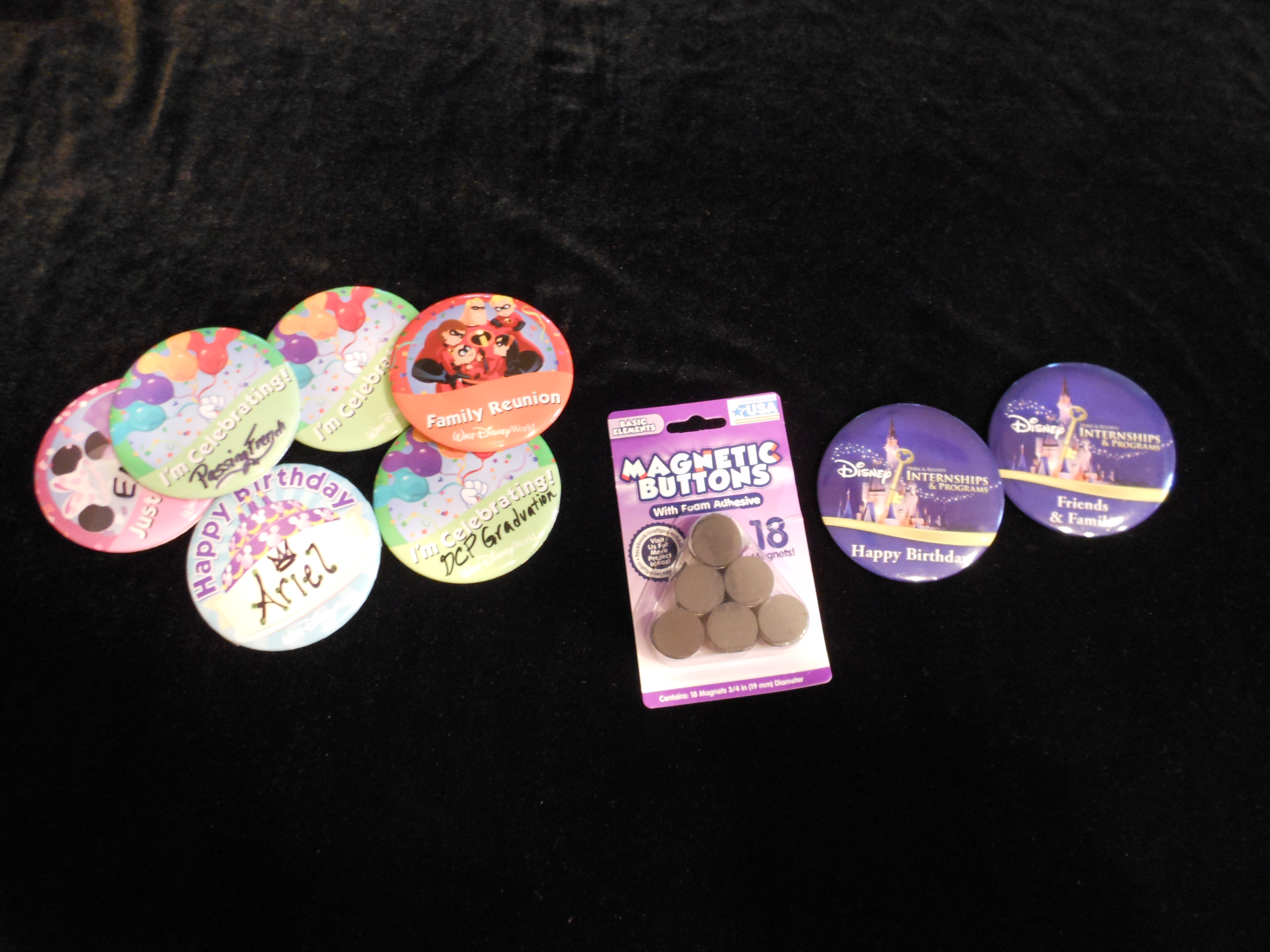 Getting Crafty with Disney Celebration Buttons