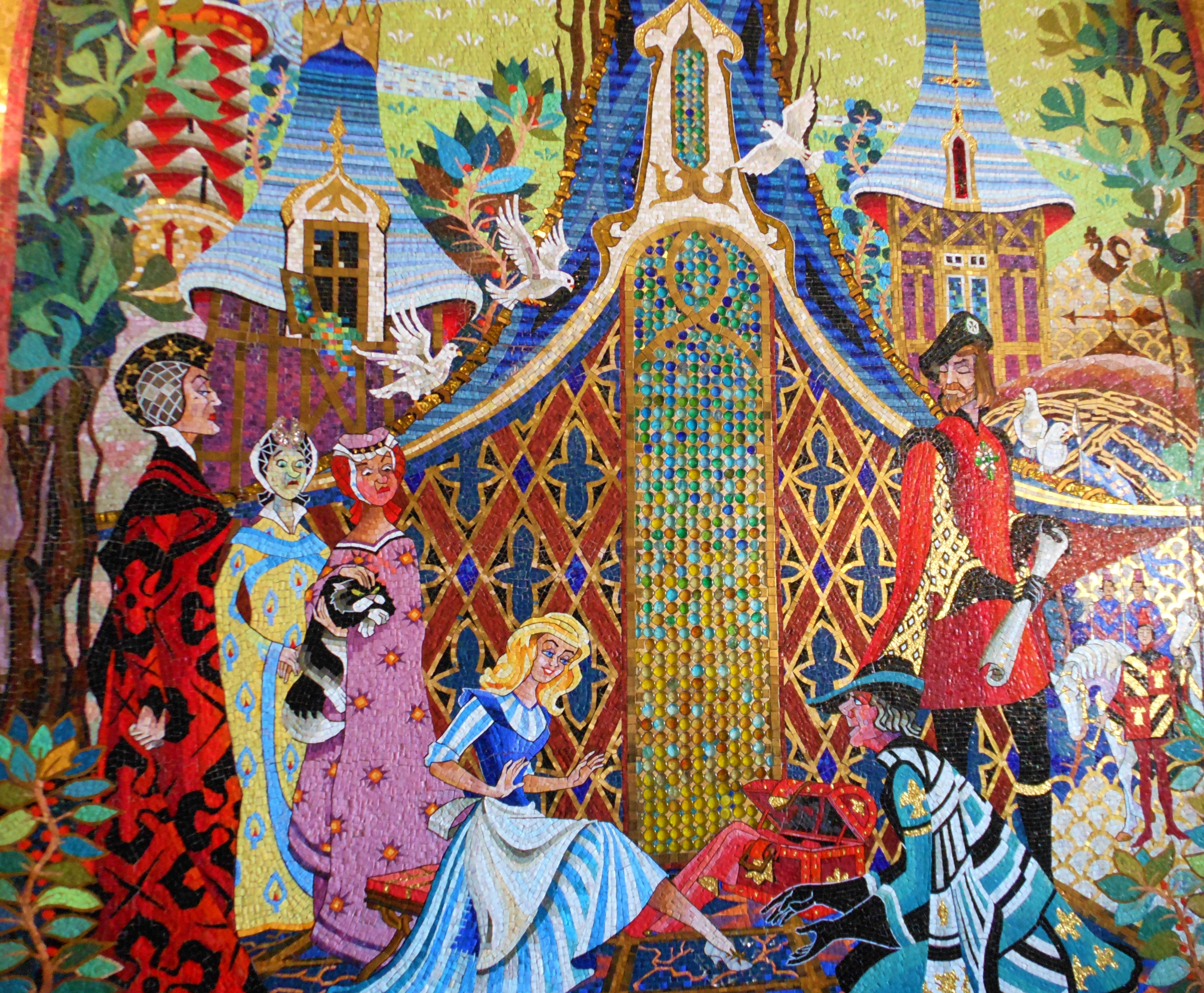 Cinderella castle mosaic murals elly and caroline 39 s for Disney world mural