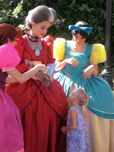 Lady Tremaine and her daughters. How old would you say she is???