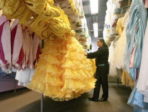A backstage peek at MK Costuming.   Recognise this one???