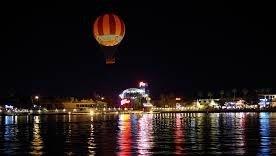 Downtown Disney at nightime.