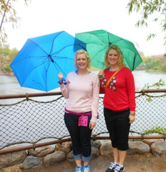 Walking around DAK in the rain.