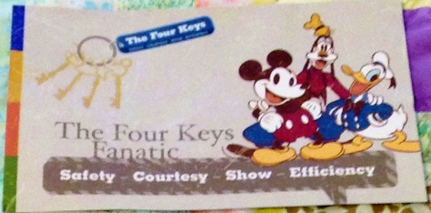 Disney Fanatic Card Four Keys Fanatic Card