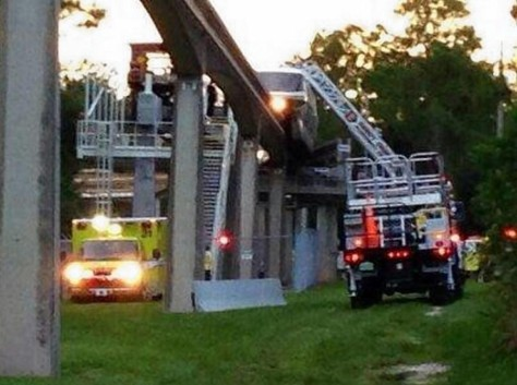 About 120 guests needed to be rescued off the 6 car monorail.