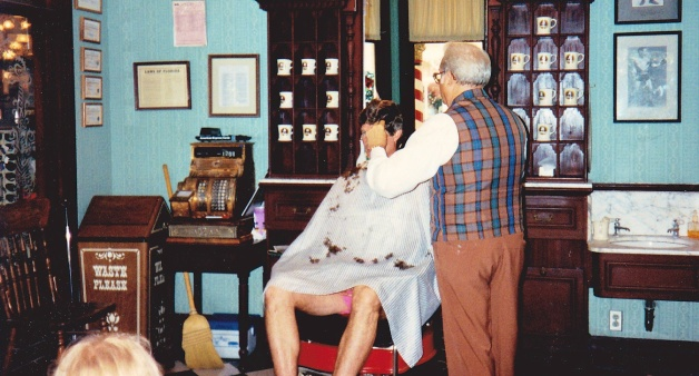 Throwback Thursday:  Out dad getting his haircut there in 1993!