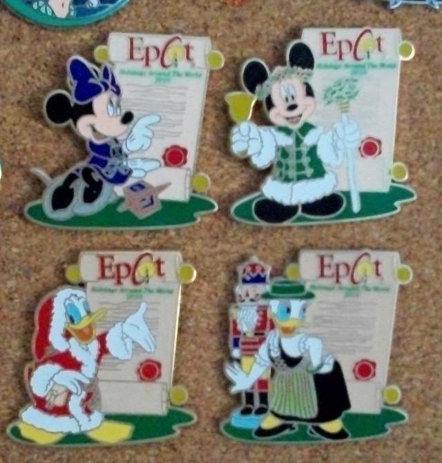 A few of the Epcot pins we collected this year.