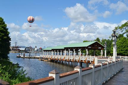 Marketplace Boat Dock at Downtown Disney.