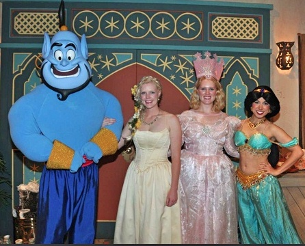 Meeting the Genie in Adventureland.