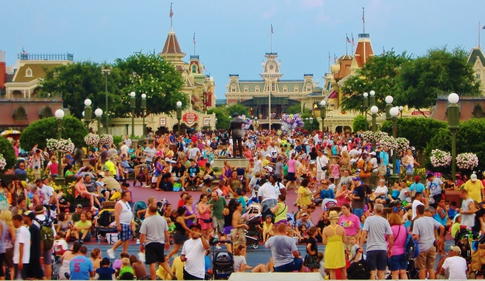 Must love crowds to work at Disney.