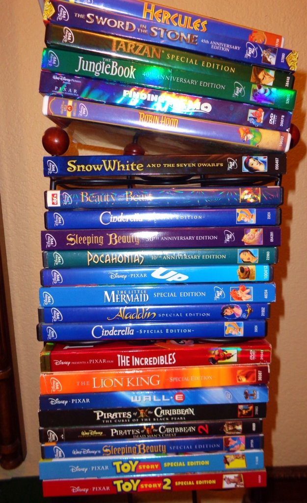 A few of our Disney DVDs.