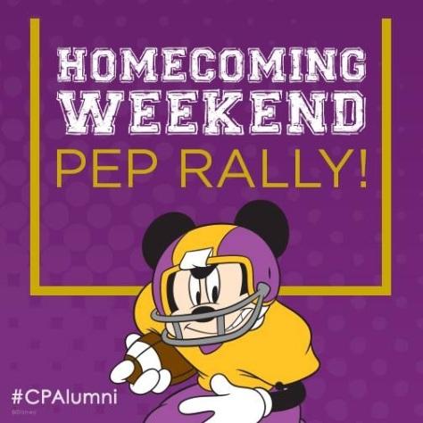 October 2014:  Homecoming Weekend!