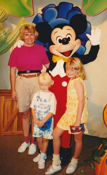 1996:  First Visit with Mickey!