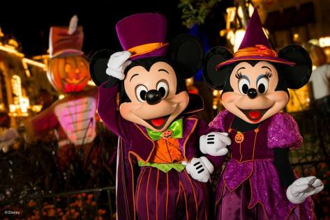 Mickey & Minnie at the Boo To You parade.