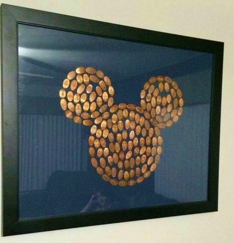 And, if you have A LOT of pressed pennies, here's an idea....