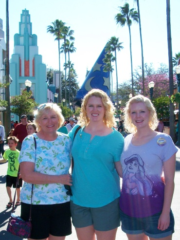 With our mom during our DCP program, February 2014.