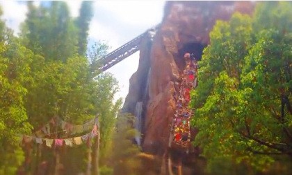 Expedition Everest! Watch out for the Yeti!!