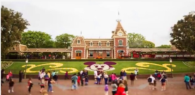 Disneyland in tilt-shift