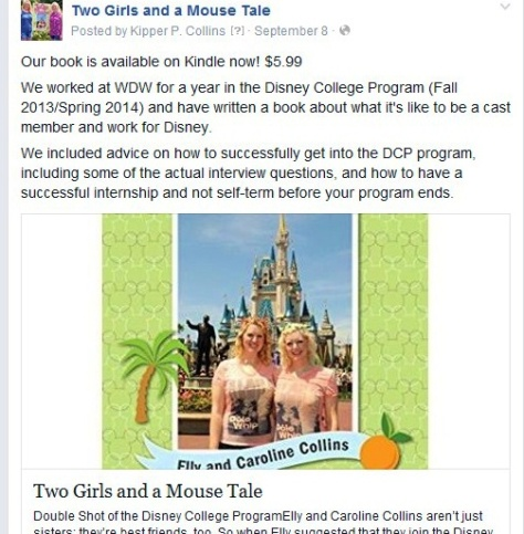 Two Girls and a Mouse Tale fan site on Facebook.