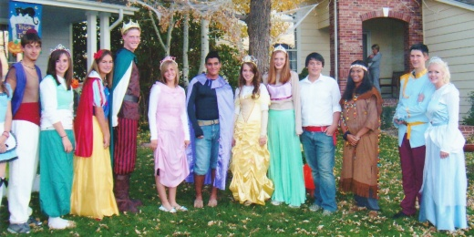 Halloween 2007:  With our princes!