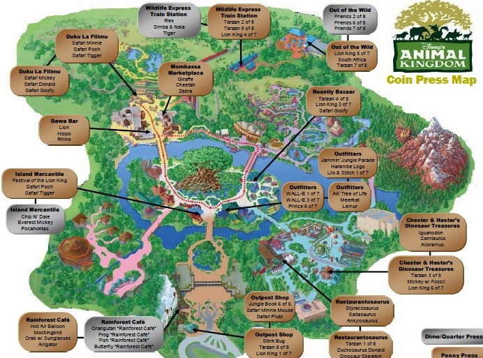 Disney world souvenirs elly and carolines magical disney moments dak map of all the pressed penny locations gumiabroncs Image collections