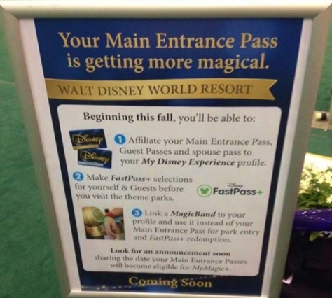 Coming soon!  Main Gate passes linked to Fast Pass +!!!  :)