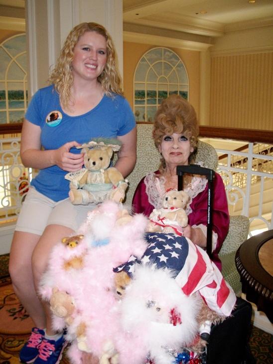 Presenting Lynn with our teddy bear gifts.