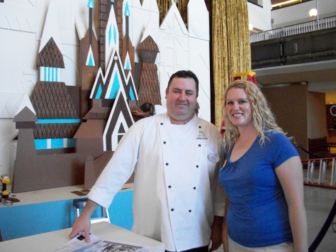 Elly with the Executive Chef of the Contemporary Resort