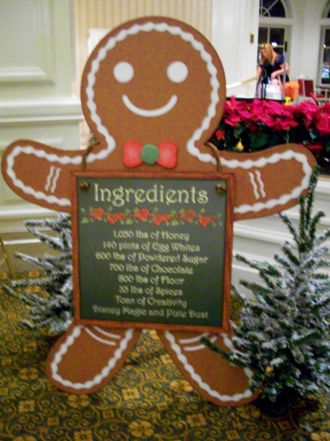 The gingerbread ingredients list.