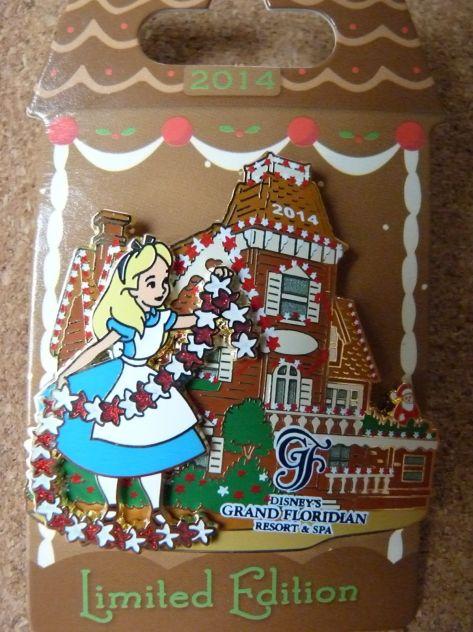 2014 Grand Floridian Gingerbread pin.