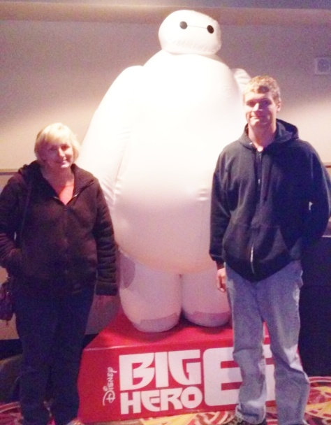 Seeing Big Hero 6 with the family.