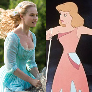 Lily James is playing Cinderella.