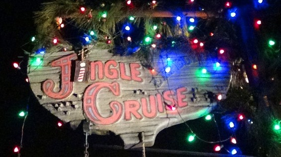 The Jingle Cruise is even fun at night!