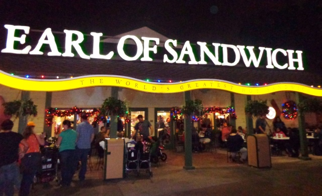 Thanksgiving night at the Earl of Sandwich