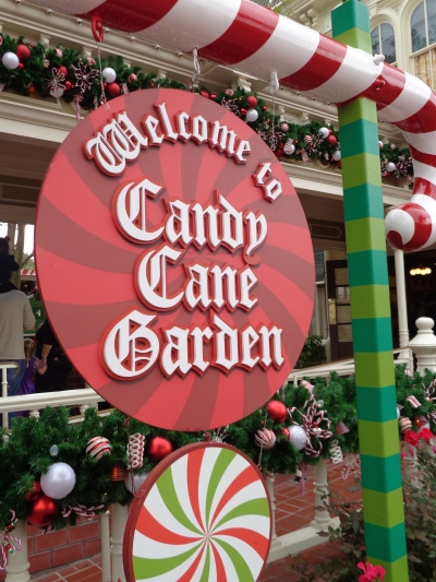 The Candy Cane Garden where Princess Aurora greets guests during the day.