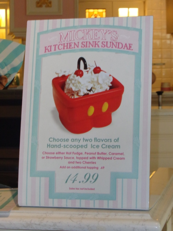 The New Minnie Kitchen Sink Sundae At Magic Kingdom Our Magical Disney Moments