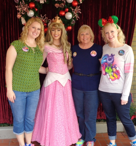 Meeting winter Princess Aurora.