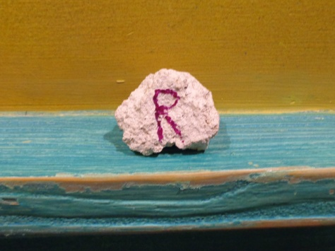The rock that Governor Radcliff gave us.