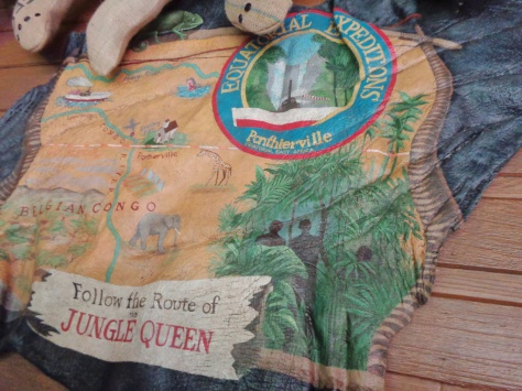 Has anyone ever noticed that the Jungle Cruise map appears to be painted on an elephant's ear?