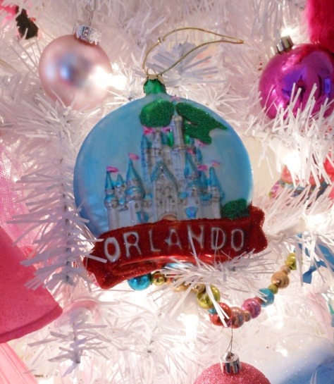 Orlando Castle glass ornament