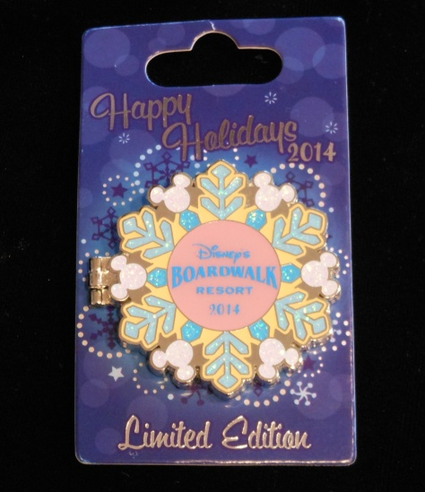 The Boardwalk Holiday pin.