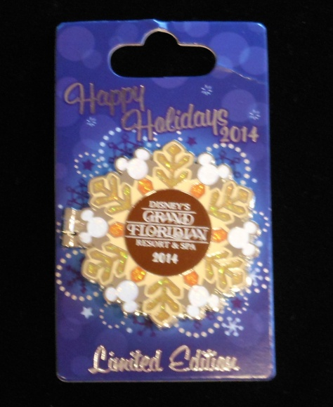 The 2014 Grand Floridian Holiday pin.