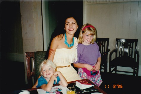 Meeting Pocahantas for the first time.  November 1996.
