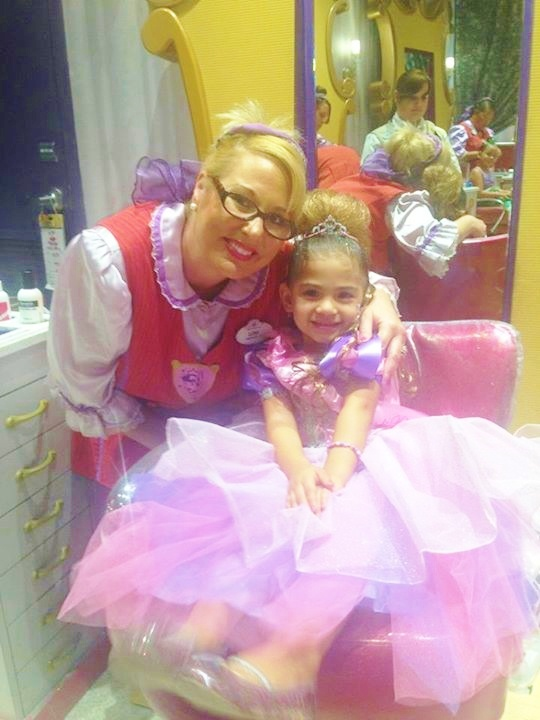 Our CM friend, Lori, making magic at work.  This princess is ready!