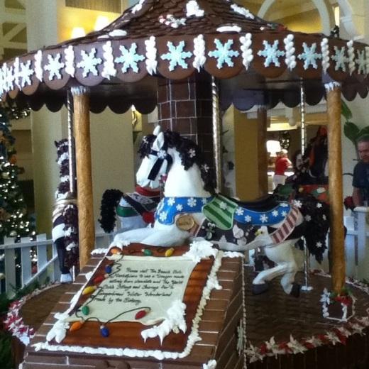 The 2014 Beach Club Gingerbread Carousel