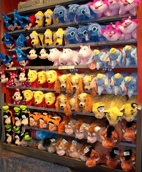 Walls and walls of Disney plush stuffed animals.
