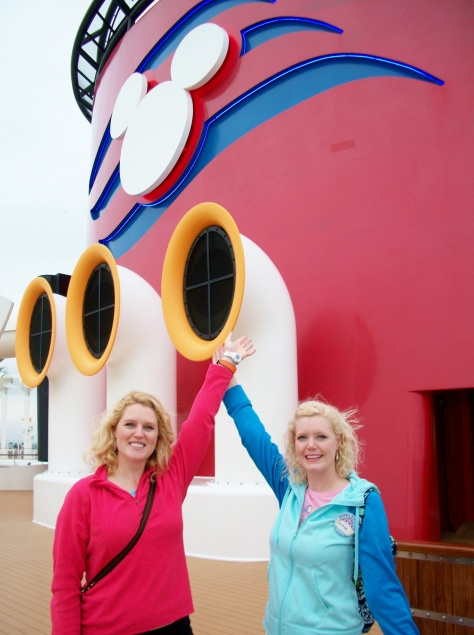 Aboard the Disney Dream on a 4 day cruise to the Caribbean during our spring program.