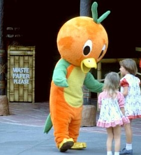 You never see Orange Bird walking around Adventureland anymore.
