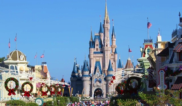 disneys 2015 christmas day parade taping at wdw castle xmas 2