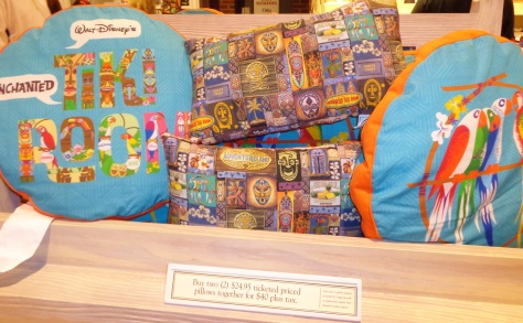 Adventureland pillows.
